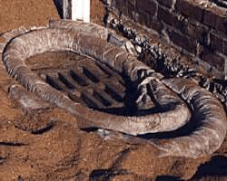 SpillSorb bunds were formed around doorways and drains to contain the oil-flood in and around the building.